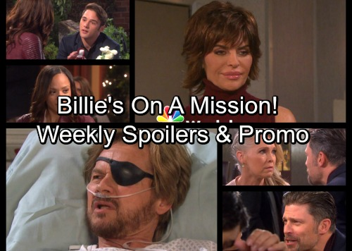 Days of Our Lives Spoilers: Week of February 12 – Billie's Lifesaving Visit - Eric's Daring Move for Love – JJ Proposes to Lani