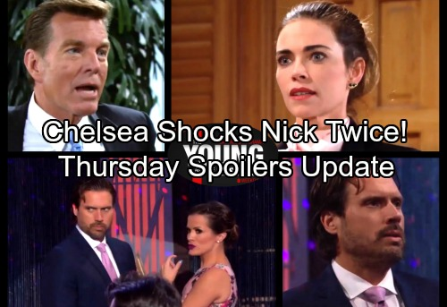 The Young and the Restless Spoilers: Thursday, February 15 Update – Chelsea Shocks Nick Twice - Victoria and Jack Set Ashley Up