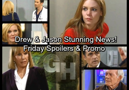 General Hospital Spoilers: Friday, February 16 – Jason and Drew's Stunning News – Carly's Stern Warning – Monica Surprises Nelle