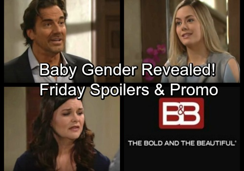 The Bold and the Beautiful Spoilers: Friday, February 16 – Steffy and Liam Learn Baby's Gender – Katie's Surprising News