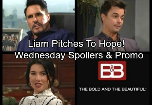 The Bold and the Beautiful Spoilers: Wednesday, February 21 – Bill's Fierce Outburst – Liam Makes a Pitch to Hope