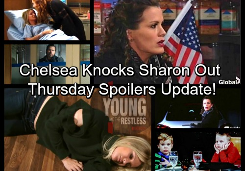 The Young and the Restless Spoilers: Thursday, February 22 Update – Chelsea Kidnaps Connor and Christian After Knocking Sharon Out
