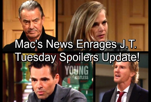 The Young and the Restless Spoilers: Tuesday, February 27 Update – Sharon Tells Nick the Truth – J.T. Furious Over Mac's News