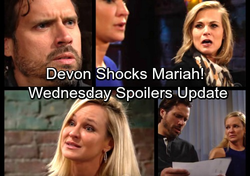 The Young and the Restless Spoilers: Wednesday, February 28 Update – Sharon Consoles Heartbroken Nick – Devon's News Shocks Mariah