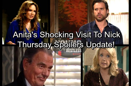 The Young and the Restless Spoilers: Thursday, March 1 Update – Anita Shocks Nick With Chelsea Bribe – Mac Rants At J.T.