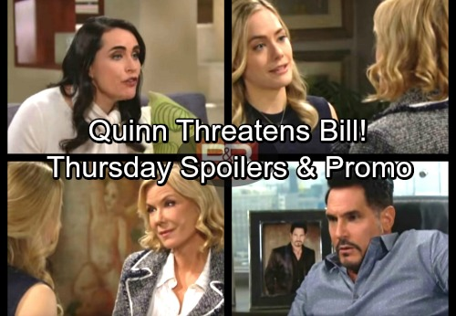 The Bold and the Beautiful Spoilers: Thursday, March 1 – Quinn Plots Bill's Downfall – Liam's Move Outrages Steffy