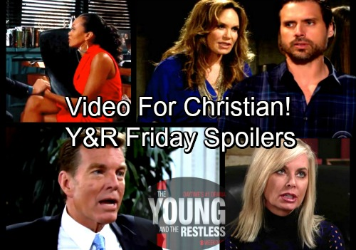 The Young and the Restless Spoilers: Friday, March 2 – Anita's Video For Christian - Jack and Ashley's Calamity – Hilary's Secret