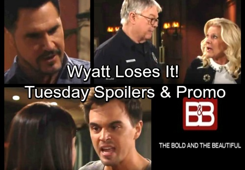 The Bold and the Beautiful Spoilers: Tuesday, March 6 – Wyatt's Fierce Outburst – Pam Loses Her Grip - Bill's In Big Trouble