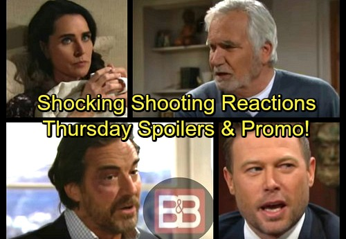 The Bold and the Beautiful Spoilers: Thursday, March 8 – Wyatt Faces Shooting Shocker – Quinn Grilled – Rick's Declaration
