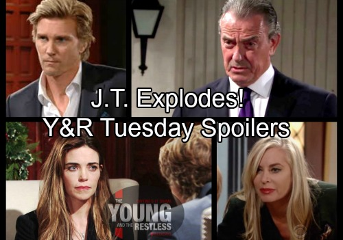 The Young and the Restless Spoilers: Tuesday, March 13 – J.T. Explodes Over Victoria's Betrayal – Ashley's Revenge