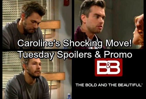 The Bold and the Beautiful Spoilers: Tuesday, March 13 – Caroline Attempts To Strangle Bill – Thomas Begs Sally