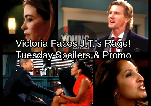The Young and the Restless Spoilers: Tuesday, March 13 – Victoria Faces J.T.'s Wrath – Victor Decides Victoria's Fate