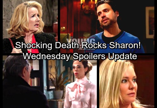 The Young and the Restless Spoilers: Wednesday, March 14 – Shocking Death Rocks Sharon – Nick Spots Nikki's Naked Encounter