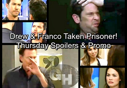 General Hospital Spoilers: Thursday, March 15 – Jim Holds Drew and Franco Captive – Maxie's Restraining Order – Sam Panics