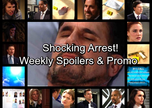 The Bold and the Beautiful Spoilers: Week of March 19 - Bill Wakes Up and Points the Finger, Shocking Arrest in Investigation