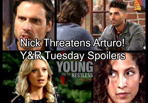 The Young and the Restless Spoilers: Tuesday, March 20 – Nick Threatens Arturo – Abby's New Reward – Lily's Vengeful Scheme