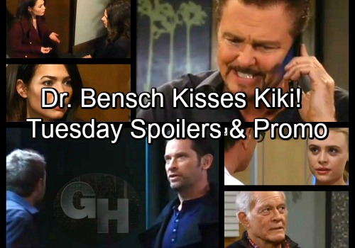 General Hospital Spoilers: Tuesday, March 20 - Dr Bensch Kisses Kiki – Cement Trucks Arrive - Mike's Shocking News