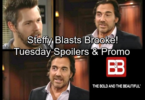 The Bold and the Beautiful Spoilers: Tuesday, March 20 – Thomas New Suspect - Steffy Blasts Brooke – Wyatt and Justin Go to War