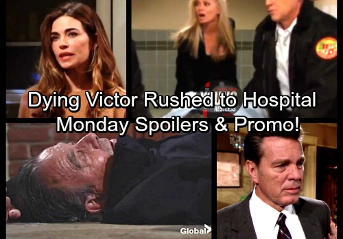 The Young and the Restless Spoilers: Monday, March 26 – Dying Victor Found and Hospitalized – Jack Lands in Hot Water