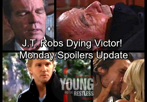 The Young and the Restless Spoilers: Monday, March 26 – J.T. Robs Dying Victor - Jack Calls 911, Discovers Kyle's Shocking Secret