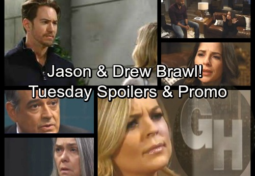 General Hospital Spoilers: Tuesday, March 27 – Drew and Jason Come to Blows – Betsy's Confession – Peter Shocks Maxie