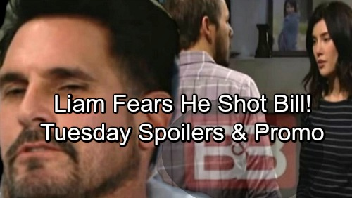 The Bold and the Beautiful Spoilers: Tuesday, March 27 – Liam's Memory Returns, Fears He Shot Bill – Steffy Begs for Help