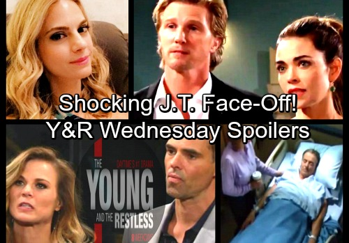 The Young and the Restless Spoilers: Wednesday, March 28 – J.T. Faces Mac's Wrath – Jack Arrested – Billy's Blast from the Past