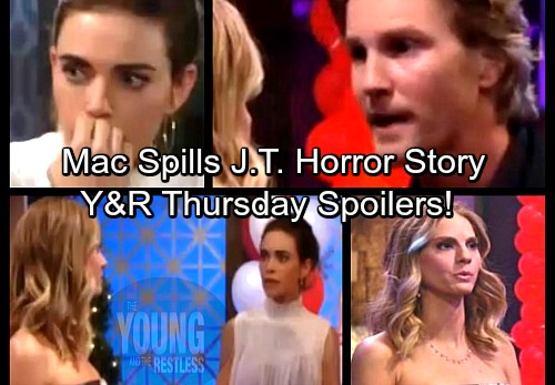 The Young and the Restless Spoilers: Thursday, March 29 – Mac Tells Victoria J.T. Horror Story – Heartbreaking Colleen Memorial