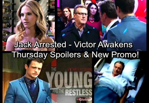 The Young and the Restless Spoilers: Thursday, March 29 Update – Jack's Shocking Arrest – Victor Awakens – Kyle Stirs Up Trouble