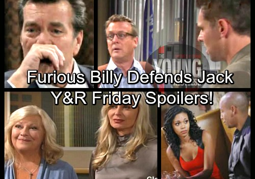The Young and the Restless Spoilers: Friday, March 30 – Devon and Hilary Stuck in a Jam – Billy Rushes to Jack's Defense