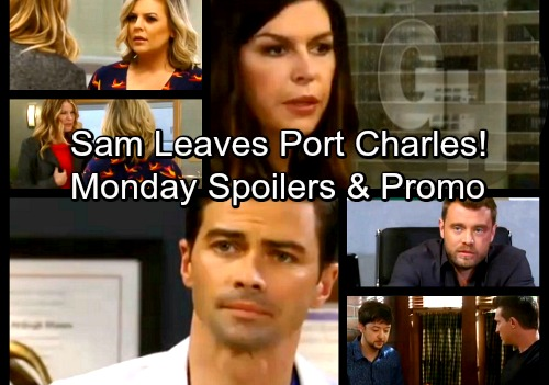 General Hospital Spoilers: Monday, April 2 – Sam Says Goodbye to Drew and Leaves Port Charles – Jason Fears For Spinelli