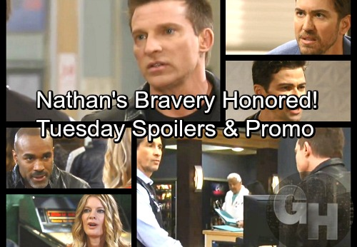 General Hospital Spoilers: Tuesday, April 3 – Jason Grills Finn About Night Faison Died – Nathan's Bravery Honored, Maxie Meets Chase
