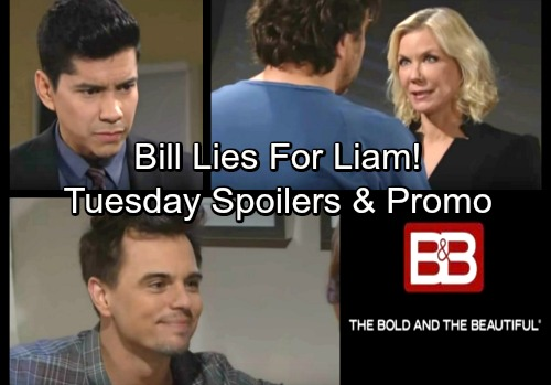 The Bold and the Beautiful Spoilers: Tuesday, April 3 – Bill Covers for Liam – Katie Points the Finger at Quinn