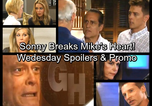 General Hospital Spoilers: Wednesday, April 4 – Sonny Devastates Mike - Anna Lies To Jason – Ava Learns Paternity Results