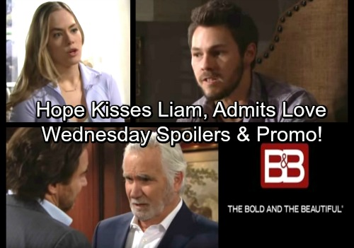The Bold and the Beautiful Spoilers: Wednesday, April 4 – Hope Plants a Kiss on Liam, Pours Heart Out - Ridge Gets Warm Welcome