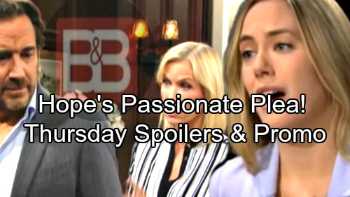 The Bold and the Beautiful Spoilers: Thursday, April 5 – Hope's Passionate Plea to Liam – Wyatt Fears the Shooter Is Close