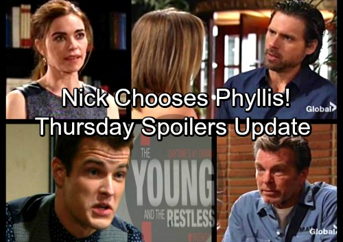 The Young and the Restless Spoilers: Thursday, April 5 Update – Victoria Leaks J.T. Violence – Nick Chooses Phyllis Over Sharon