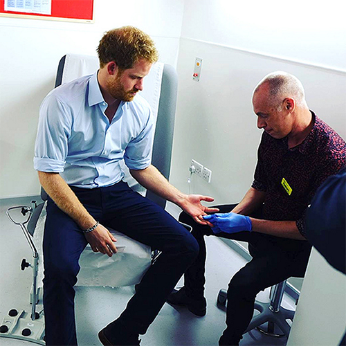 Prince Harry Follows In Princess Diana's Footsteps With Secret Visit To Mildmay Mission HIV/AIDS Hospital