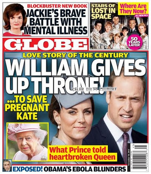 GLOBE: Kate Middleton, Prince William Love Story - Queen Elizabeth Heartbroken as Prince Refuses Throne! (PHOTO)