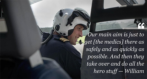 Prince William Tries To Fix Lazy Reputation: Special Presentation Highlights Air Ambulance Pilot Duties, His Role Exaggerated?