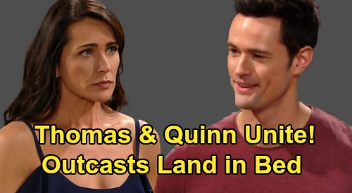 The Bold and the Beautiful Spoilers: Could Thomas & Quinn Land in Bed Together – Misunderstood Schemers and Outcasts Connect?