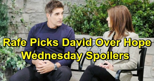 Days of Our Lives Spoilers: Wednesday, April 10 – Rafe Chooses David Over Hope - Jack's Memory Flash – Will's Crushing Blow