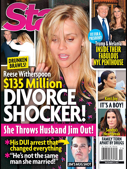 Reese Witherspoon Divorce: Separated From Husband Jim Toth, Living Separate Lives – On Verge Of $135 Million Split! (PHOTO)