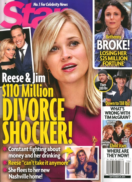 Reese Witherspoon Divorce: Jim Toth Fights About Money And Her Alcoholism! (PHOTO)
