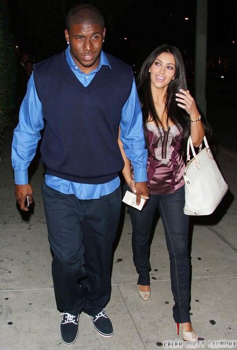 Kim Kardashian And Reggie Bush Leaving Koi Restaurant