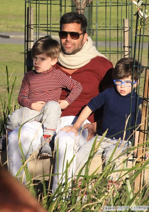 Ricky Martin and Twin Boys Matteo and Valentino Hang Out In Australia (PHOTOS)