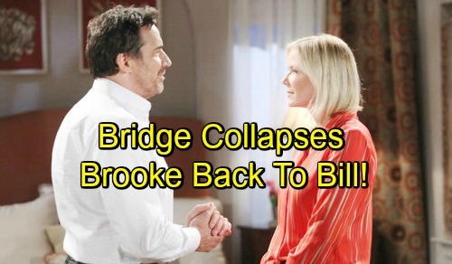The Bold and the Beautiful Spoilers: Brooke Drawn Back to Bill After 'Bridge' Crumbles – Can't Resist Her Beloved Bad Boy