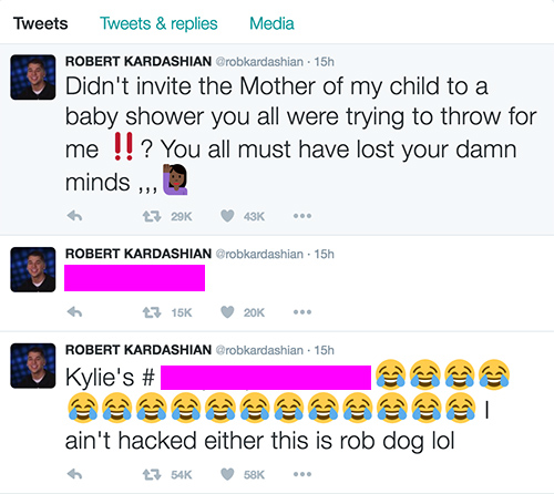 Rob Kardashian Leaks Kylie Jenner's Phone Number After Kardashian Sisters Snub Blac Chyna From Own Baby Shower!