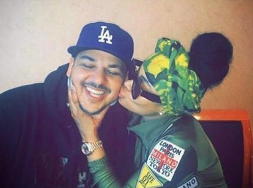 Blac Chyna and Rob Kardashian Kissing Photos Emerge: Chyna Saving Rob From Kardashian Women