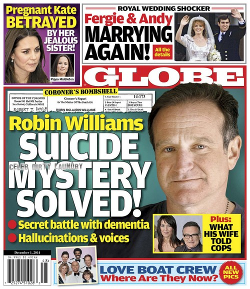 GLOBE: Robin Williams Suicide Death Mystery Solved - Susan Schneider, What Wife Told Cops (PHOTO)